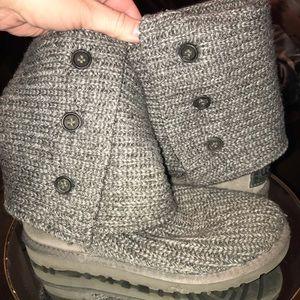 Ugg grey sweater cardi boots